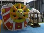 Le Thousand Sunny (from One Piece) et la maison de Tortue Géniale otn créé l'animation sur le stand de Toei Animation